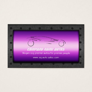 Auto Car on Luxurious Purple - Sportscar template Business Card