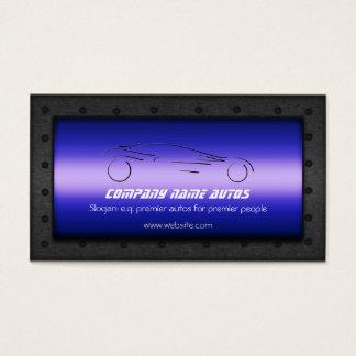 Auto Car on Royal Blue - Sportscar template Business Card