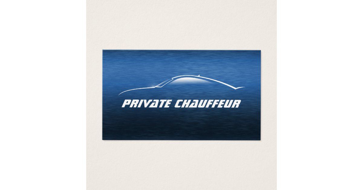 Auto Car Private Chauffeur Driver Business Card | Zazzle.com