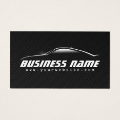 Auto Car Professional Black Carbon Fiber Business Card at Zazzle