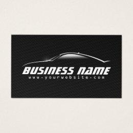 Auto Car Professional Black Carbon Fiber Business Card