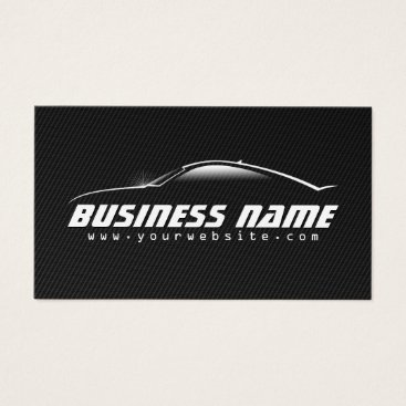 Aztec Themed Auto Car Professional Black Carbon Fiber Business Card