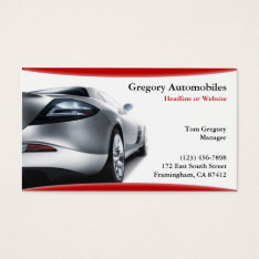Auto Cars Business Card at Zazzle