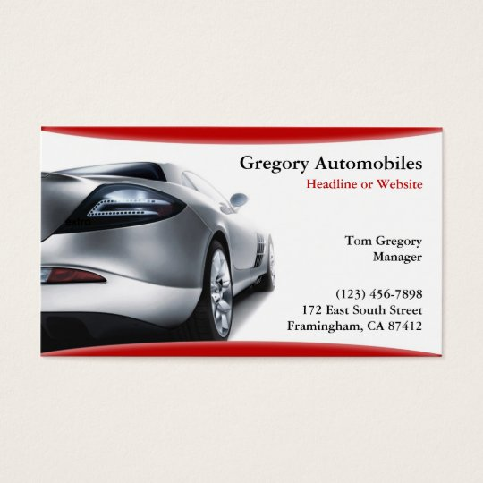 Car Business Cards & Templates | Zazzle