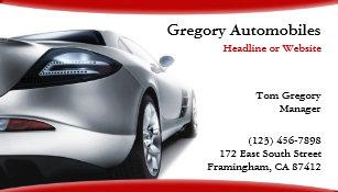 car business cards zazzle