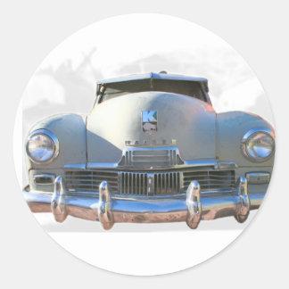 Auto clásico de Kaiser Pegatina Redonda