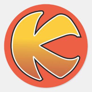auto collant kaboum-k classic round sticker