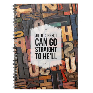 Auto Correct Office Humor Photo Notebook