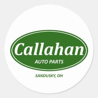 Auto de Callahan Pegatina Redonda