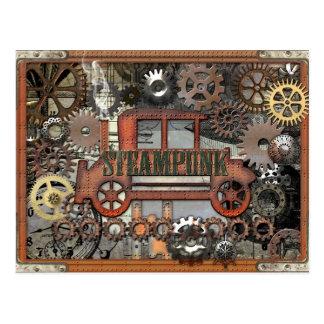 Auto de Steampunk Postales