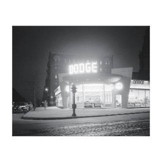 Auto Dealer At Night, 1948 Canvas Print