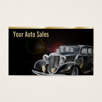 Auto Dealer Car Sales Vintage Car Elegant Business Card