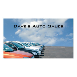 Auto dealer lot Double-Sided standard business cards (Pack of 100)