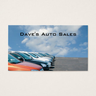 Auto dealer lot business card
