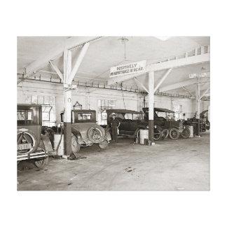 Auto Dealer Repair Shop, 1926 Canvas Print