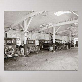 Auto Dealer Repair Shop, 1926 Print