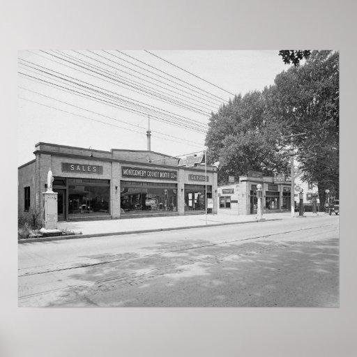 Auto Dealership 1926 Vintage Photo Poster Zazzle