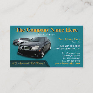 Car sales associate business cards templates zazzle auto dealership sales auto sales double sided business card reheart Image collections