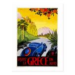 Auto del En de Grece del La de Visitez - poster de Postal