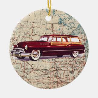 Auto del vintage de la ruta 66 - SRF Ornamentos De Reyes