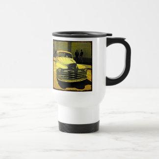Auto del vintage del estilo del cómic céntrico taza de viaje