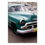 Auto del vintage en Cuba Felicitaciones