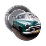 Auto del vintage en Cuba Pin Redondo 5 Cm