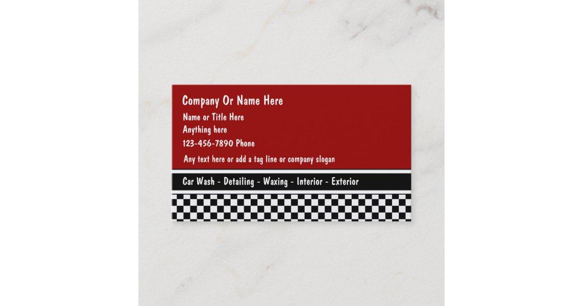 Auto Detail Business Cards | Zazzle.com