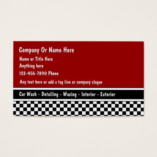 Auto detail business cards zazzle auto detail business cards colourmoves