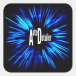 Auto Detailer Star Explosion Sticker