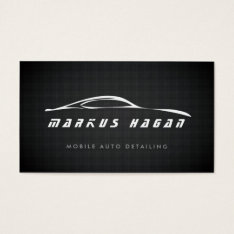 Auto Detailing, Auto Repair Business Card at Zazzle