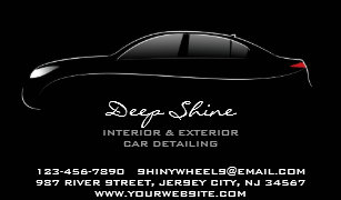 auto detailing bold business card - Car Detailing Business Cards