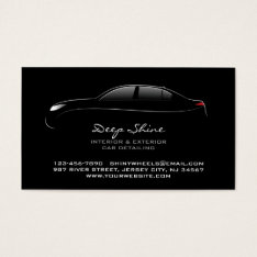 Auto Detailing Bold Business Card at Zazzle