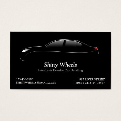 auto detailing business card