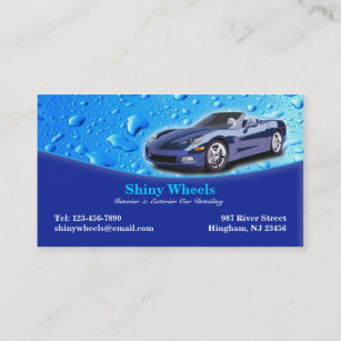 auto detailing business card - Car Detailing Business Cards
