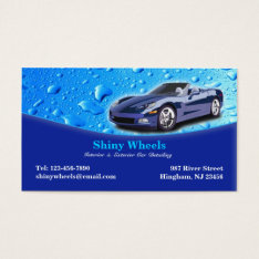Auto Detailing Business Card at Zazzle
