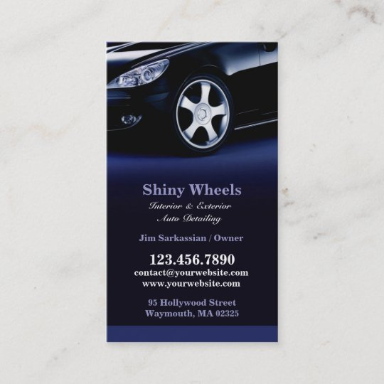 Auto detailing business card zazzle auto detailing business card reheart Gallery