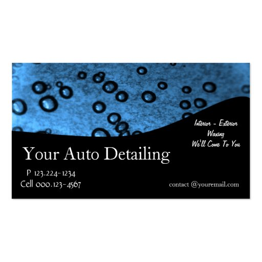Auto detailing business card zazzle for Detailing business cards