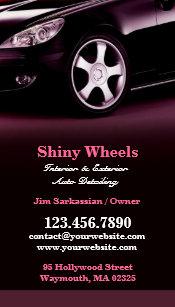 Auto detailing business cards templates zazzle auto detailing business card colourmoves Images