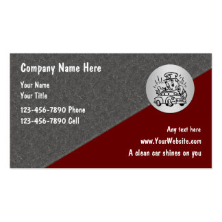 Mobile car wash business cards templates zazzle for Mobile detailing business cards