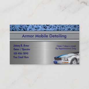 auto detailing business cards - Car Detailing Business Cards