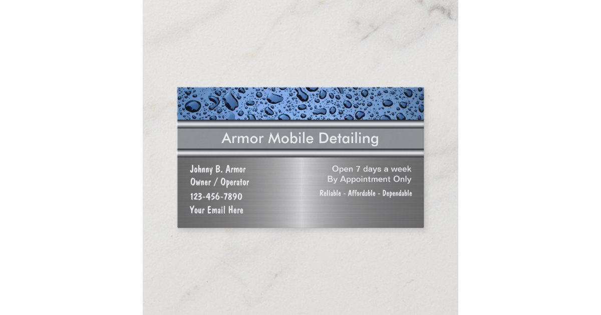 Auto Detailing Business Cards | Zazzle.com