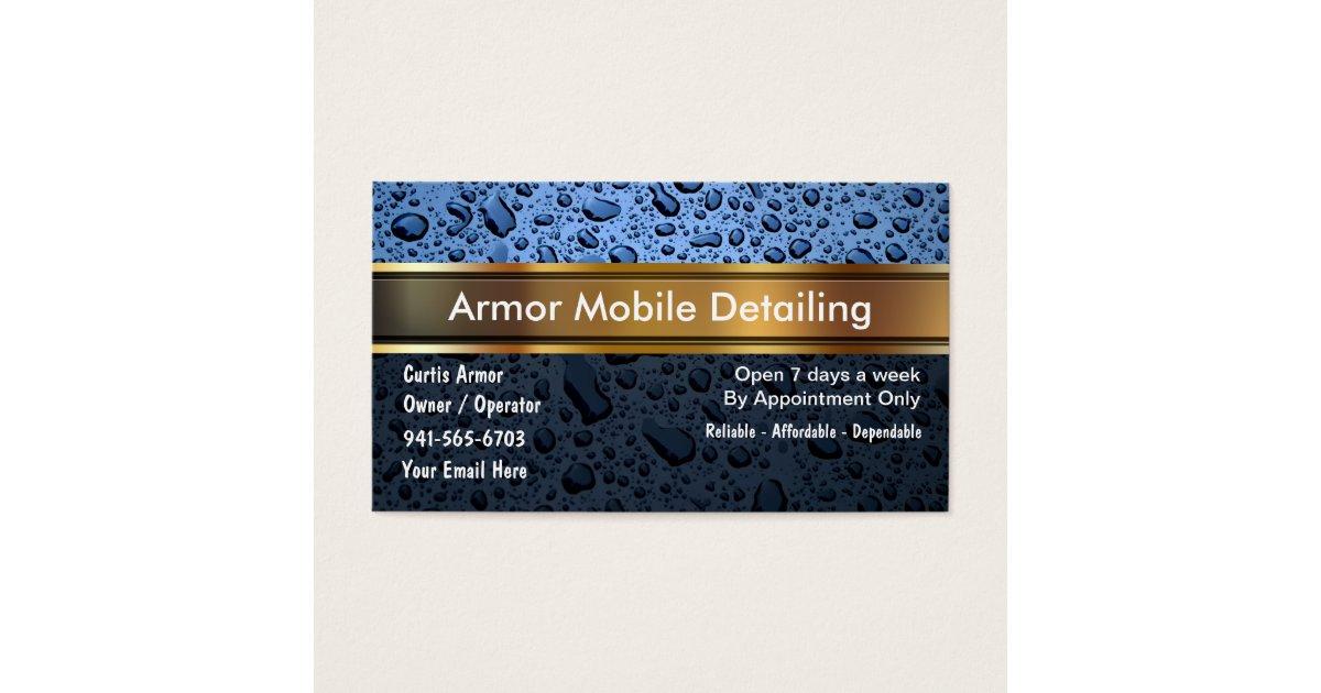 Auto Detailing Business Cards & Templates   Zazzle