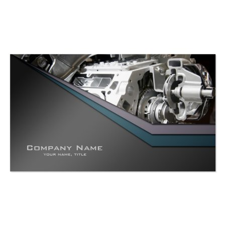Polished Car Engine Auto Repair Business Cards