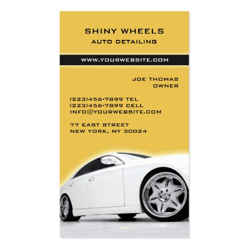 Auto Detailing / Cars Business Card