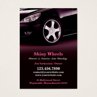 Auto Detailing Chubby Business Card
