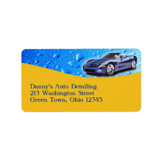 Auto Detailing Label/Return Address Label