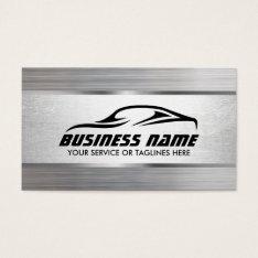Auto Detailing Modern Metal Texture Automotive Business Card at Zazzle