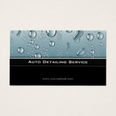 Auto Detailing Professional Automotive Car Business Card at Zazzle