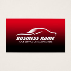 Auto Detailing Professional Black & Red Automotive Business Card at Zazzle